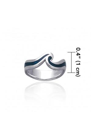 Blue Ocean Waves Ring