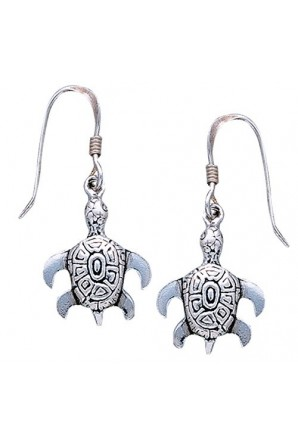 Sea Turtle Hook Earring