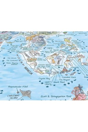 Carte de plongée Serviette
