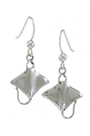 Manta Ray Hook Earring