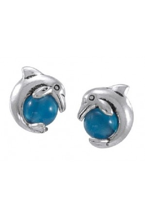 Dolphins Post Earring