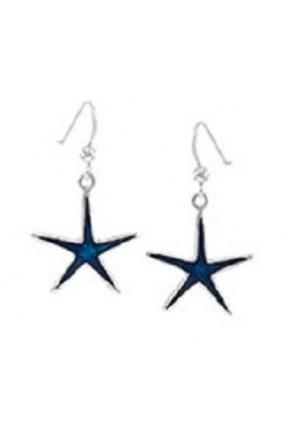 Brincos Longos Estrela Azul