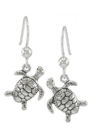 Sea Turtle Hook Earring