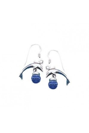Dolphin Hook Earring with...