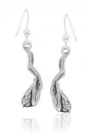 Freediving Girl Long Earrings