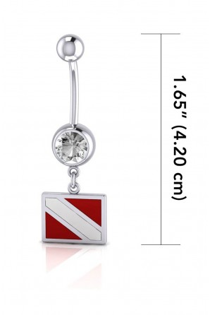 Dive Flag Sterling Silver...
