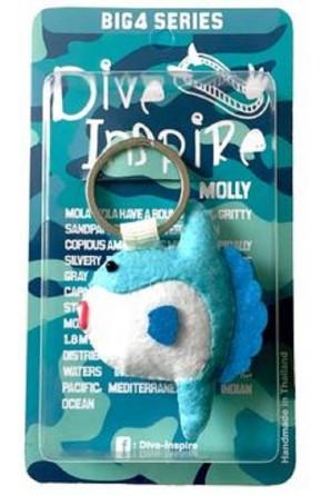 Portachiavi a forma di Mola Mola Molly