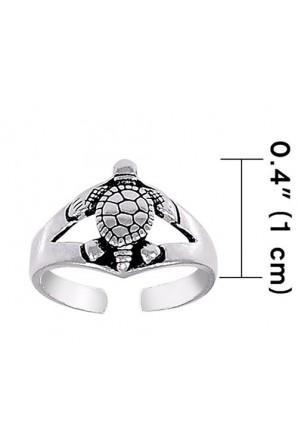 Turtle toe ring