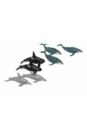 Polybag of Whale & Dolphin Figurines
