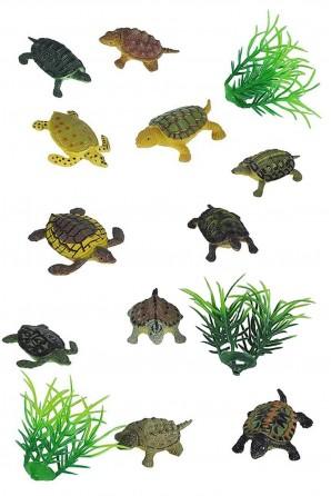 Mini Polybag of Turtle Figurines