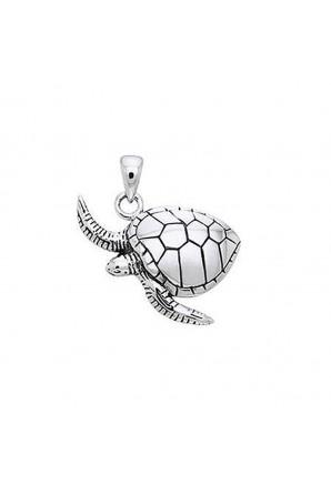 Pingente de tartaruga marinha nadando