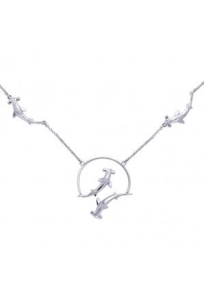 Vierfache Hammerhai-Halskette