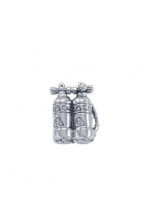 Sterling silver pin with marine shapes