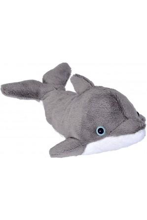 Peluche à poche dauphin