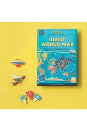 Crie seu próprio mapa gigante