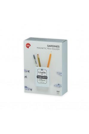 Porta-lápis magnético Sardinhas 5 ímãs