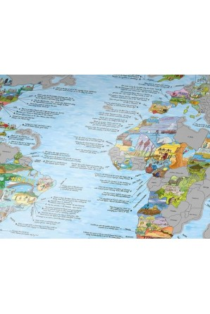 Landkartenkratzer und er/sie entdecken